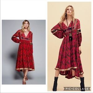 Free People Bold Blooms Maxi Dress Small